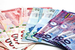 香港美元钞票 库存图片