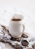 ποτό σοκολάτας ζεστό Στοκ Φωτογραφίες