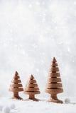 Ξύλινες διακοσμήσεις χριστουγεννιάτικων δέντρων Στοκ εικόνα με δικαίωμα ελεύθερης χρήσης