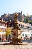 城堡德国海得尔堡 免版税库存照片