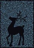 圣诞节驯鹿剪影 库存照片