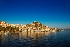 希贝尼克是古镇在克罗地亚 库存图片