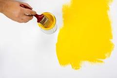 Επιφάνεια ζωγραφικής κίτρινη Στοκ Εικόνα