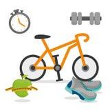 Фитнес и здоровый образ жизни Стоковая Фотография