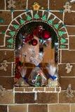华而不实的屋与圣诞节好吃的东西的圣诞节装饰 免版税库存图片