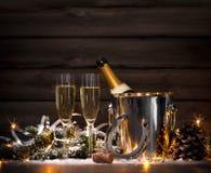νέα έτη παραμονής εορτασμο Στοκ Φωτογραφία