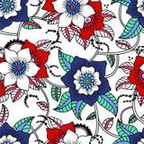花卉无缝的纹理 库存照片