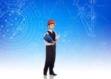 逗人喜爱的小男孩工程师 库存图片
