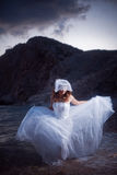 新娘运行中 免版税图库摄影
