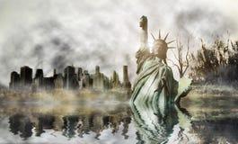 Апокалипсис в Нью-Йорке Стоковая Фотография