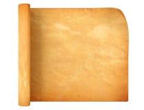 老古色古香的纸卷纸 免版税库存照片