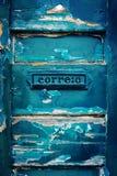 Μπλε ταχυδρομικών θυρίδων Στοκ εικόνα με δικαίωμα ελεύθερης χρήσης