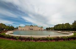 眺望楼宫殿,维也纳 免版税库存图片