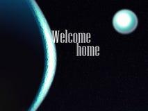 抽象宇宙欢迎家 免版税库存照片