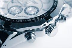 镀镍层的手表 免版税图库摄影