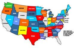 χάρτης ΗΠΑ Στοκ Εικόνες