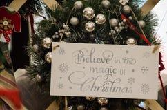 Εμπνευσμένο στεφάνι Χριστουγέννων Στοκ φωτογραφίες με δικαίωμα ελεύθερης χρήσης