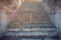 封锁的台阶 库存照片