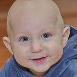 小的男婴画象 免版税库存照片