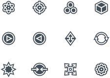 абстрактные установленные иконы Стоковое фото RF