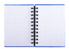 有页的笔记本在与螺旋的一只笼子 免版税图库摄影