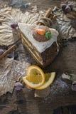 Торт моркови Стоковое Изображение