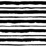 与脏的条纹的无缝的样式 图库摄影