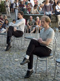 Χορευτές στις καρέκλες Στοκ Εικόνες