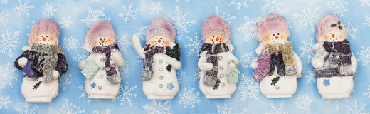 снеговик знамени Стоковое Изображение