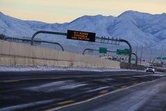 冰冷的路 库存图片