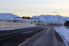 冰冷的路 免版税图库摄影