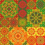 无缝的背景模式 在花卉样式的华丽补缀品 库存图片