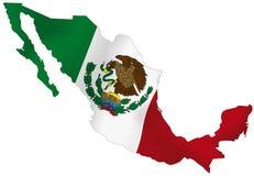 Флаг Мексики Стоковое Изображение