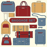 在旅行时间设置的行李 图库摄影