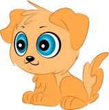 Милый щенок вектора шаржа Стоковые Фото