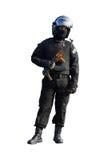 Офицер сил специального назначения полиции Стоковые Изображения RF