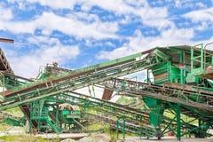 Εγκαταστάσεις για την εξαγωγή αμμοχάλικου Στοκ Φωτογραφία