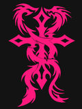 Татуировка креста и драконов Стоковые Изображения