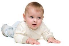 逗人喜爱的男婴 库存图片