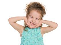少许笑的女孩 图库摄影
