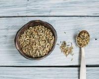 Душистые семена фенхеля Стоковые Фотографии RF