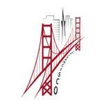Шаблон дизайна вектора Сан-Франциско Стоковая Фотография RF