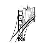 Шаблон дизайна вектора Сан-Франциско Стоковое Изображение RF