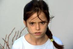 恼怒的女孩少年 免版税库存图片
