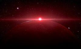Ο Άρης που πυροβολείται από το διάστημα Στοκ Φωτογραφίες
