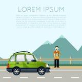 Έμβλημα ταξιδιού αυτοκινήτων Στοκ φωτογραφίες με δικαίωμα ελεύθερης χρήσης