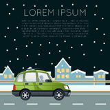Έμβλημα ταξιδιού αυτοκινήτων Στοκ Εικόνες