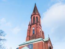 Καμπαναριό ή κώνος μιας παλαιάς εκκλησίας Στοκ Φωτογραφία