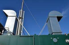 Λεπτομέρειες συνδυασμένων εγκαταστάσεων θερμότητας και παραγωγής ενέργειας Στοκ εικόνα με δικαίωμα ελεύθερης χρήσης