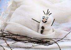 滑稽的雪人 库存图片